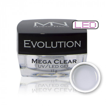 MN UV/LED Evolution Mega Clear Gel za izlivanje noktiju (gradivni)